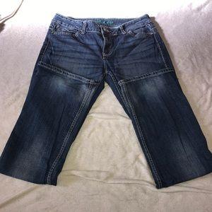 Wrangler dark wash jeans- size 9/10 X 34